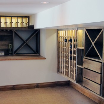Luxury - custom wine cellar