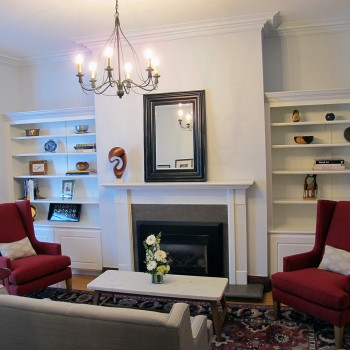 fireplace area - Upstage Interior Design