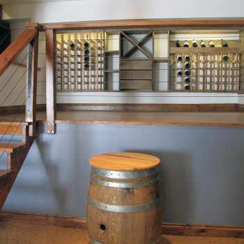 luxury cottage - custom wine cellar